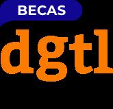 logotipo becas del dgtl fundraising